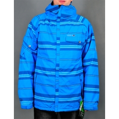 686 Factor Insulated Jacket league stripe blue