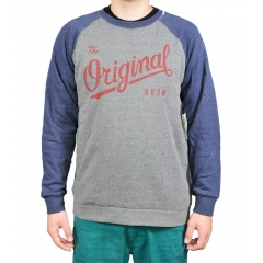 KR3W The Original Raglan grey navy W14