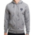 TURBOKOLOR Moder Hood - Grey Heather/Torch Print