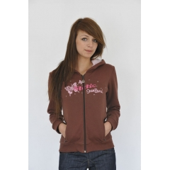 STATIC Butterfly Hoody brown