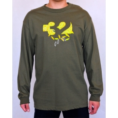 32 Cut Out LS military green